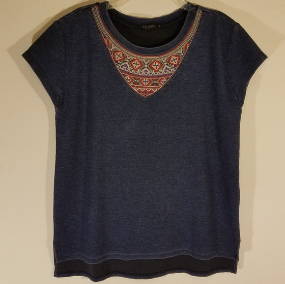 Max Jeans Tops - Max Jeans | Blue Aztec Tee
